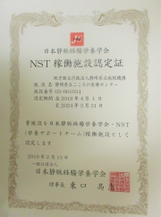 NST認定書
