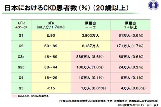 日本におけるCKD患者数(%)(20歳以上)
