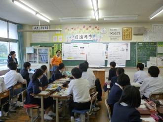 中学校災害講演